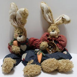 Country Style Boy & Girl Rabbits